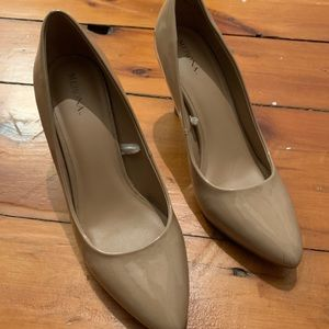 #5for25 Merona Nude Patent Pumps
